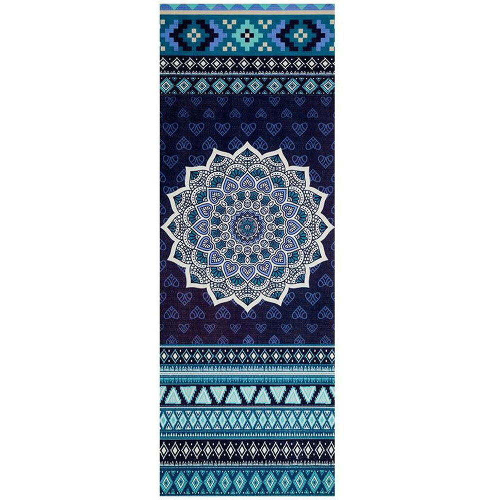 Navy Aztec Design 6mm Pvc Superior Grip Sticky Mandala